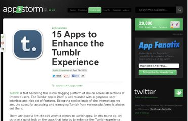 http://web.appstorm.net/roundups/self-publishing/15-apps-to-enhance-the-tumblr-experience/