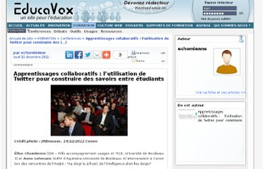 http://www.educavox.fr/formation/conferences/Apprentissages-collaboratifs-l