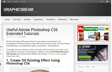 http://www.graphicsbeam.com/tutorials/adobe-photoshop-cs6-extended-tutorials/