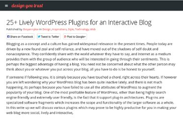 http://designyoutrust.com/2011/12/25-lively-wordpress-plugins-for-an-interactive-blog/