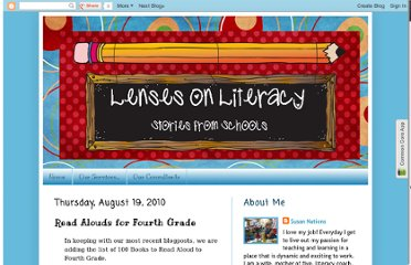 http://literacycoachingservices.blogspot.com/2010/08/read-alouds-for-fourth-grade.html