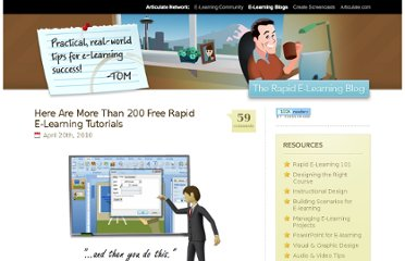 http://www.articulate.com/rapid-elearning/here-are-more-than-200-free-rapid-e-learning-tutorials/