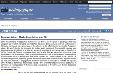 http://www.cafepedagogique.net/lexpresso/Pages/2012/06/07062012Article634746478655112423.aspx