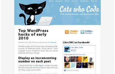 http://www.catswhocode.com/blog/top-wordpress-hacks-of-early-2010