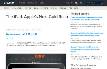 http://gigaom.com/2010/03/30/the-ipad-apples-next-gold-rush/