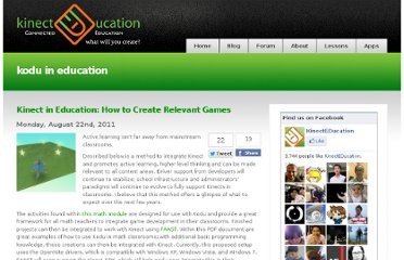 http://www.kinecteducation.com/blog/tag/kodu-in-education/