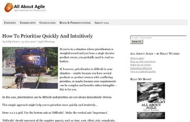 http://www.allaboutagile.com/how-to-prioritise-quickly-and-intuitively/