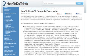http://www.howtodothings.com/how-to-use-apa-format-in-powerpoint