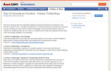 http://inventors.about.com/od/fstartinventions/tp/Future_Techno.htm
