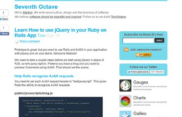 http://techoctave.com/c7/posts/21-learn-how-to-use-jquery-in-your-ruby-on-rails-app