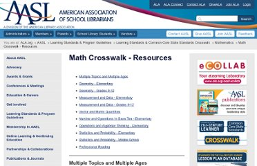http://www.ala.org/aasl/guidelinesandstandards/commoncorecrosswalk/math-resources