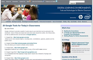 http://www.guide2digitallearning.com/tools_technologies/20_google_tools_today%E2%80%99s_classrooms