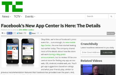http://techcrunch.com/2012/06/07/the-facebook-app-center-is-here-the-details/