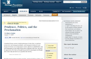 http://www.heritage.org/research/reports/2007/08/prudence-politics-and-the-proclamation
