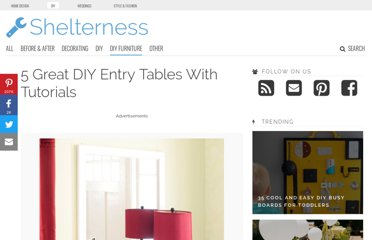 http://www.shelterness.com/5-great-diy-entry-tables-with-tutorials/