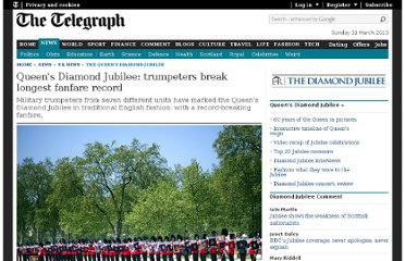 http://www.telegraph.co.uk/news/uknews/the_queens_diamond_jubilee/9283050/Queens-Diamond-Jubilee-trumpeters-break-longest-fanfare-record.html