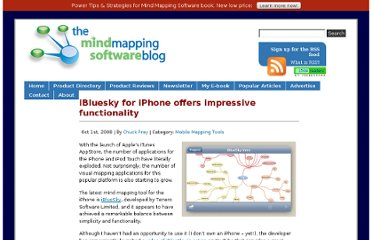 http://mindmappingsoftwareblog.com/ibluesky-for-iphone/