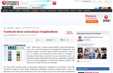 http://www.commentcamarche.net/news/5859554-facebook-lance-sa-boutique-d-applications