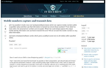 http://security.stackexchange.com/questions/6747/mobile-numbers-capture-and-transmit-data