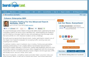 http://searchengineland.com/creative-testing-for-the-advanced-search-marketer-part-1-123498