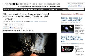 http://www.thebureauinvestigates.com/2012/06/08/discontent-disturbance-and-legal-failures-in-palestine-tunisia-and-turkey/