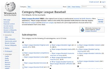 http://en.wikipedia.org/wiki/Category:Major_League_Baseball