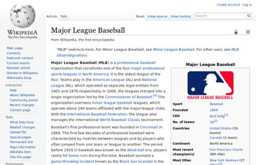 http://en.wikipedia.org/wiki/Major_League_Baseball