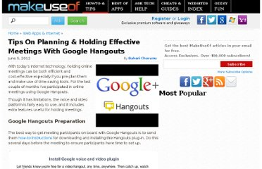 http://www.makeuseof.com/tag/tips-on-planning-holding-effective-meetings-with-google-hangouts/