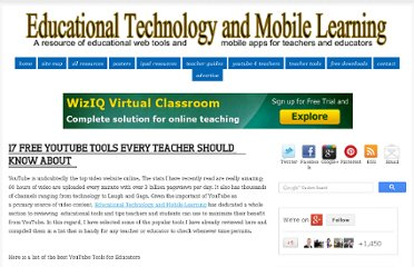 http://www.educatorstechnology.com/2012/06/17-free-youtube-tools-every-teacher.html