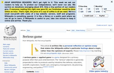 http://en.wikipedia.org/wiki/Serious_game