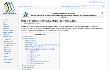 http://en.wikibooks.org/wiki/Ruby_Programming/Syntax/Method_Calls#Method_Definitions