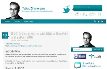 http://zimmergren.net/technical/sp-2010-getting-started-with-linq-to-sharepoint-in-sharepoint-2010