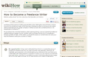 http://www.wikihow.com/Become-a-Freelance-Writer