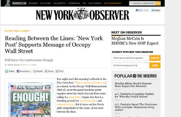 http://observer.com/2011/11/reading-between-the-linesnew-york-post-supports-message-of-occupy-wall-street/