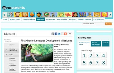 http://www.pbs.org/parents/education/reading-language/reading-milestones/first-grader-language-development-milestones/