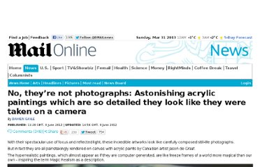 http://www.dailymail.co.uk/news/article-2156792/No-photographs-Astonishing-acrylic-paintings-detailed-look-like-taken-camera.html