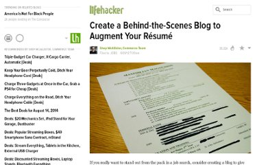 http://lifehacker.com/5916318/create-a-behind+the+scenes-blog-to-augment-your-resume