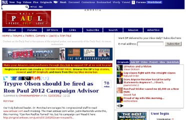 http://www.dailypaul.com/210815/trygve-olson-should-be-fired-as-ron-paul-2012-campaign-advisor