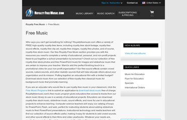 http://www.royaltyfreemusic.com/free-music-resources.html