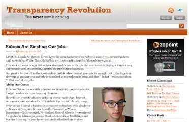 http://www.transparencyrevolution.com/2012/02/robots-are-stealing-our-jobs/