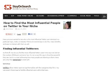 http://www.stayonsearch.com/how-to-find-the-most-influential-people-on-twitter-in-your-niche