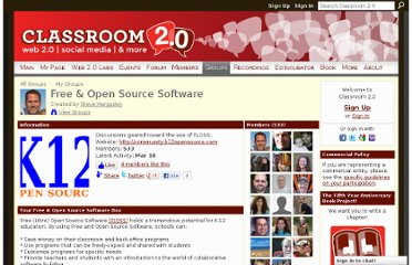 http://www.classroom20.com/group/freeopensourcesoftware