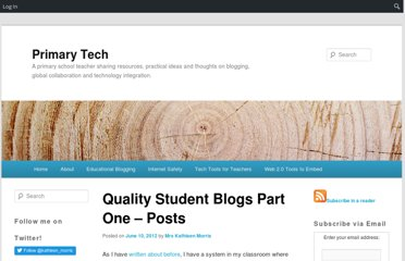 http://primarytech.global2.vic.edu.au/2012/06/10/quality-student-blogs-part-one-posts/