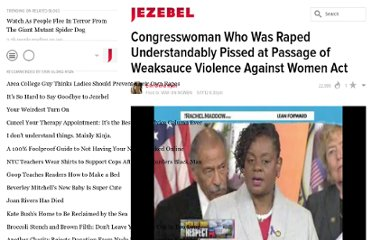 http://jezebel.com/5911173/congresswoman-who-was-raped-understandably-pissed-at-passage-of-weaksauce-violence-against-women-act
