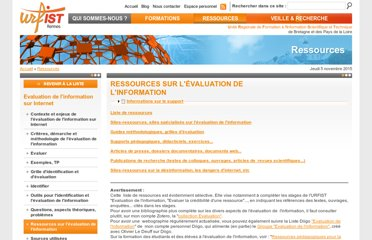 http://www.sites.univ-rennes2.fr/urfist/ressources/evaluation-de-linformation-sur-internet/ressources-sur-levaluation-de-linformation