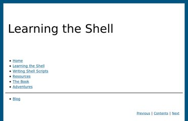 http://linuxcommand.org/lc3_learning_the_shell.php