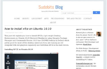 http://blog.sudobits.com/2010/11/04/how-to-install-xfce-on-ubuntu-10-10/