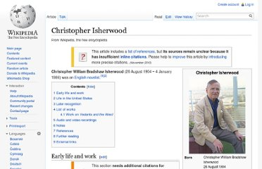 http://en.wikipedia.org/wiki/Christopher_Isherwood