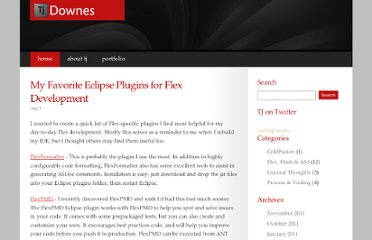 http://www.tjdownes.com/post.cfm/my-favorite-eclipse-plugins-for-flex-development