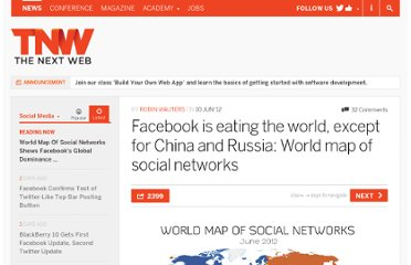 http://thenextweb.com/socialmedia/2012/06/10/facebook-is-eating-the-world-except-for-china-and-russia-world-map-of-social-networks/